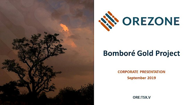 Orezone Corporate Presentation September 2019