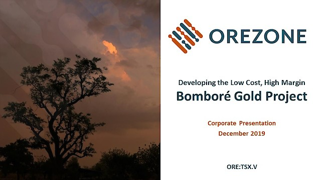 Orezone Corporate Presentation December 2019