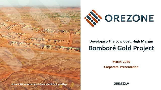 Orezone Corporate Presentation March 2020