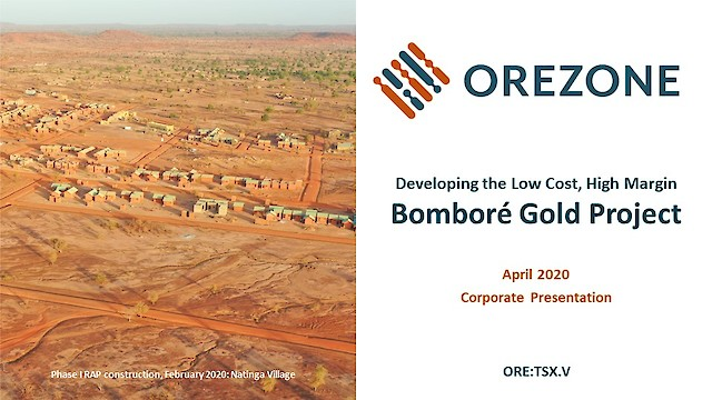 Orezone Corporate Presentation April 2020